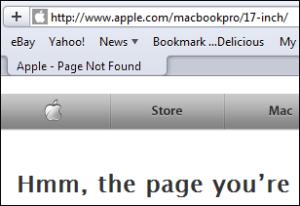 Apple MacBook 17' not found